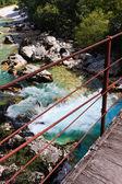 Alpine river Soca, Isonzo, Slovenia — Stock Photo