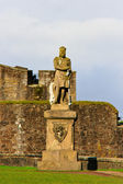 King Robert The Bruce statue, Castle of Stirling, Scotland — Stock Photo