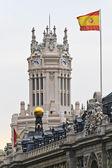 Palacio de cibeles, madryt, hiszpania — Zdjęcie stockowe