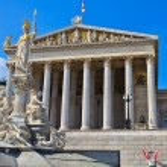 Vienna - Austrian Parliament Building — Stock Photo #13473958