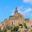 Mont Saint Michel Abbey, Normandy, Brittany, France - Stock Photo
