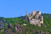 Durnstein Castle over the river danube (Wachau Valley), Austria — Stock Photo