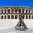 Roman Amphitheater in Nimes, France — Stock Photo #14048180