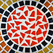 Radial mosaic tiles — Stock Photo
