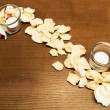 Spa still life with candle and rose petals — Stock Photo #14049073
