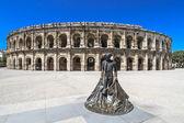 Amphithéâtre romain à nîmes, france — Photo