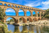 Pont du gard, nîmes, provence, france — Photo