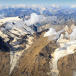 Stock Photo: Lacier at Grossglockner massif - aerial view, Austria