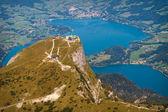 Luftaufnahme Schafberg und Mondsee — Stock Photo