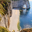 Stock Photo: Cliffs of Etretat, Normandy, France