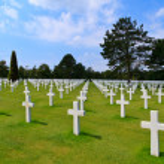 American War Cemetery near Omaha Beach, Normandy (Colleville-sur — Stock Photo #14331167