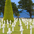 American War Cemetery near Omaha Beach, Normandy (Colleville-sur — Stock Photo