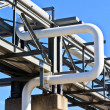 Oil reservoir on a petrochemical plant — Stock Photo