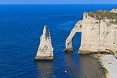 Falésias de etretat, Normandia, França — Fotografia Stock