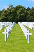 American War Cemetery near Omaha Beach, Normandy (Colleville-sur — Stock Photo