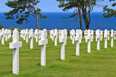 American War Cemetery near Omaha Beach, Normandy (Colleville-sur — Foto Stock