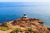 Noirmont Point Lighthouse, St. Aubin's Bay, Jersey, The Channel — Stock Photo
