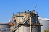 Oil Refinery (Heavy Industry Complex, Plant) — Stock Photo