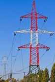 Электрическая башня, утилита полюса, власти полюса — Стоковое фото