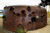 Destroyed German Bunker of the atlantic wall from world war 2 (F — Stock Photo