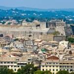 Corfu, Kerkyra Fortifications Aerial View, Greece — Stock Photo