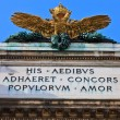 Stock Photo: Double headed Eagle on AustriImperial palace (Hofburg) in vie