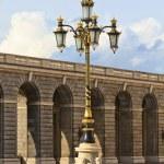 Baroque lantern near royal palace in Madrid, Spain — Stock Photo