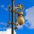 Stock Photo: Baroque lantern near royal palace in Madrid, Spain
