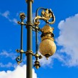 Baroque lantern near royal palace in Madrid, Spain — Stock Photo