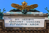Double headed Eagle on Austrian Imperial palace (Hofburg) in vie — Stock Photo
