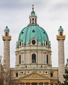 Dome of the Karlskirche (St. Charles's Church), Vienna, Austria — Stock Photo