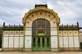 Karlsplatz Subway Station (Otto Wagner Pavilion), Vienna, Austr — Stock Photo