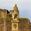 King Robert The Bruce statue, Castle of Stirling, Scotland - Stock Photo