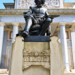 Statue of Velazquez in front of Prado museum, Madrid - Stock Photo