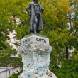 Statue of Goya outside of Prado Museum, Madrid — Stock Photo
