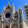 Facade of Siena dome (Duomo di Siena), Italy — Stock Photo #14673321