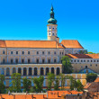 Mikulov (Nikolsburg) castle and town - Stock Photo