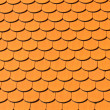 Pattern of red ceramic roof shingles — Stock Photo