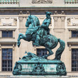 Statue of Prince Eugene of Savoy in front of Hofburg Palace, Vie — Stock Photo