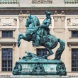 Statue of Prince Eugene of Savoy in front of Hofburg Palace, Vie - Stock Photo