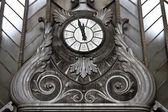 Reloj vintage en la estación de atocha, madrid — Foto de Stock