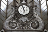 Vintage clock in Atocha Station, Madrid — Stock Photo