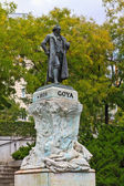 Statue of Goya outside of Prado Museum, Madrid — ストック写真