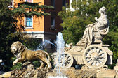 Plaza de Cibeles Fountain, Madrid, Spain — Stock Photo