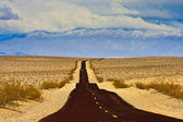 Long Desert Road — Stock Photo
