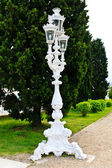 White Baroque style street lantern — Stock Photo