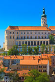 Mikulov (Nikolsburg) castle and town — Stock Photo