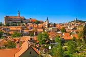 Mikulov (Nikolsburg) castle and town — Stock Photo