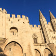 Avignon in Provence - View on Popes Palace - Stock Photo