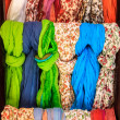 Stock Photo: Colorful scarves at market place